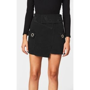 CarMar Foldover Waistband Cargo Pocket Skirt 1469